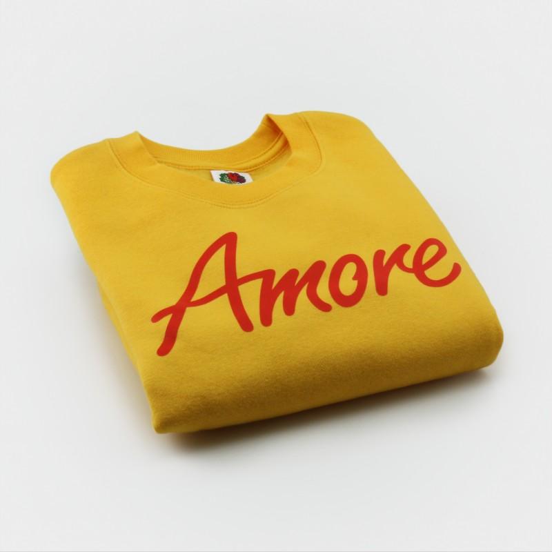 Amore-Sweatshirt für Kinder, gelb