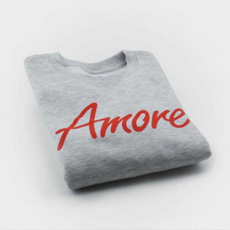 Amore-Sweatshirt für Kinder, grau