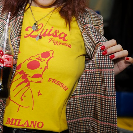 Bagni Luisa, Pizza T-Shirt, gelb
