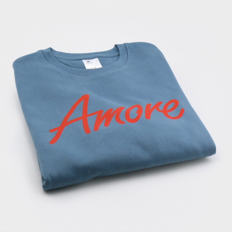 Amore-Sweatshirt, unisex, graublau