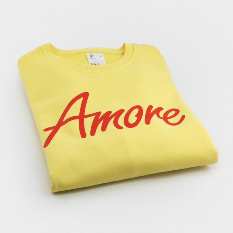 Amore-Sweatshirt, unisex, gelb