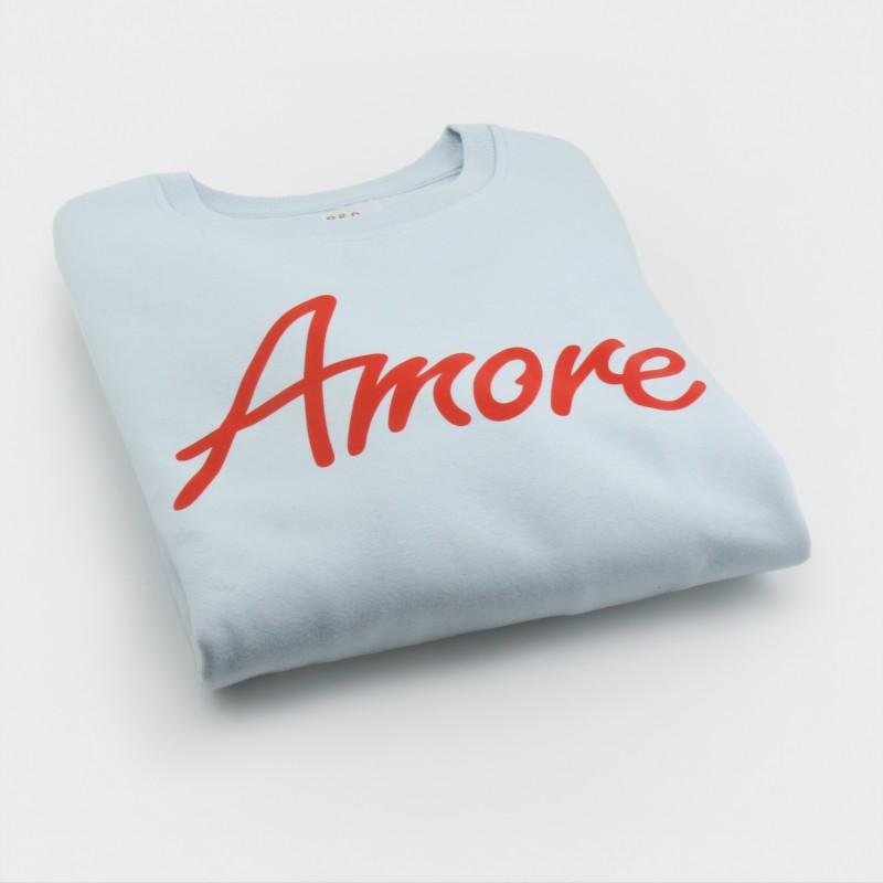 Amore-Sweatshirt, unisex, eisblau