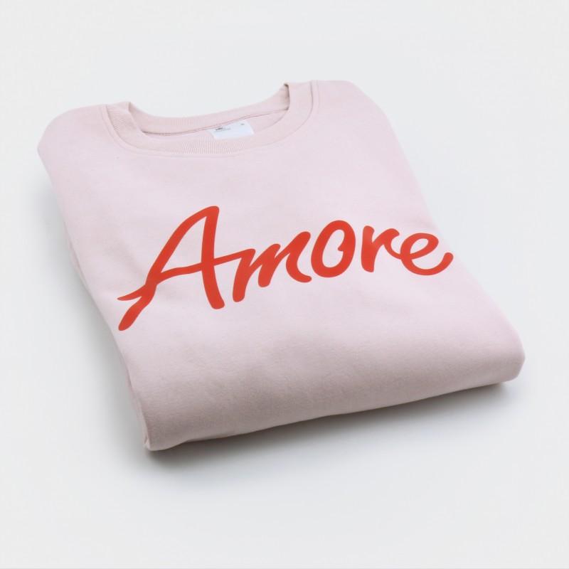 Amore-Sweatshirt, unisex, rosa