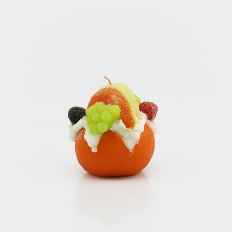 "Kerze ""Orange"", dekoriert"