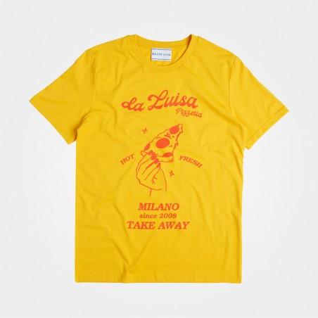 Bagni Luisa, Pizza T-Shirt von Luisa Bertoldo, gelb