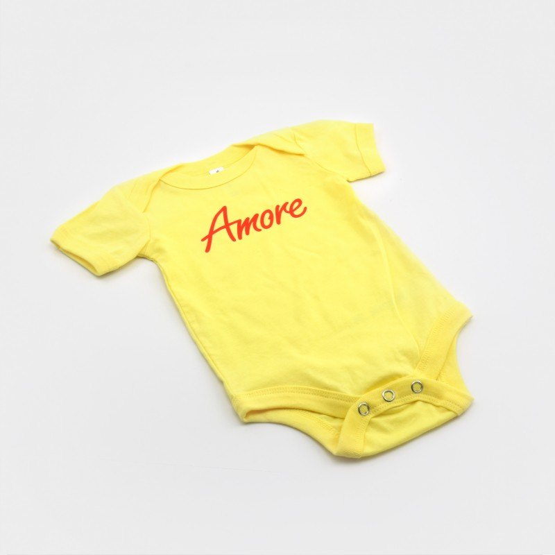 Amore Baby-Body, gelb