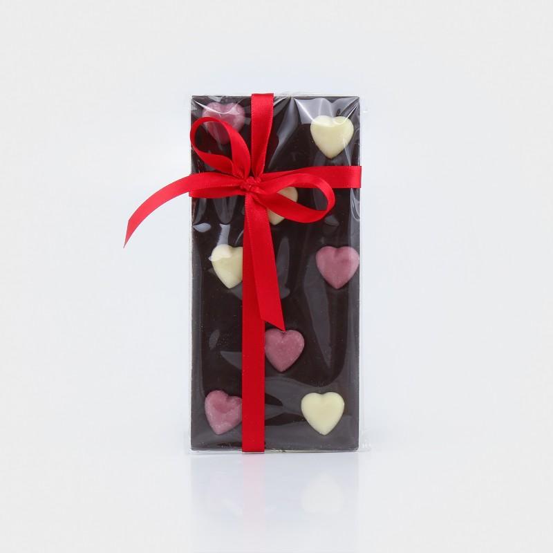 Zartbitterschokolade mit Herzen von Boella & Sorrisi aus dem Piemont