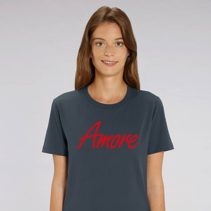 Organic Amore T-Shirt, unisex, india ink grey