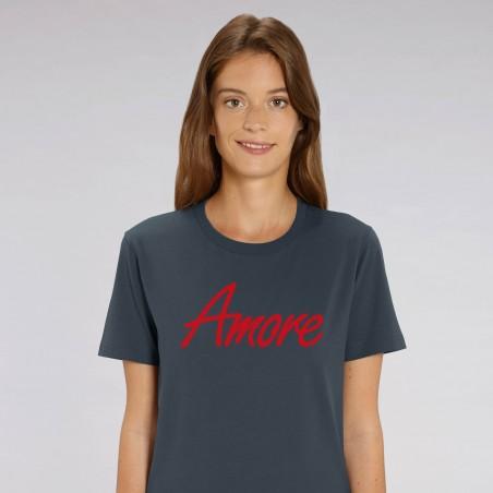Organic Amore T-Shirt, unisex, india ink grey