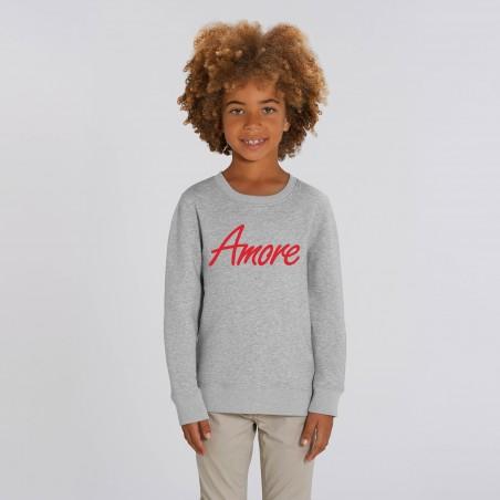Organic Amore-Sweatshirt für Kinder, heather grey