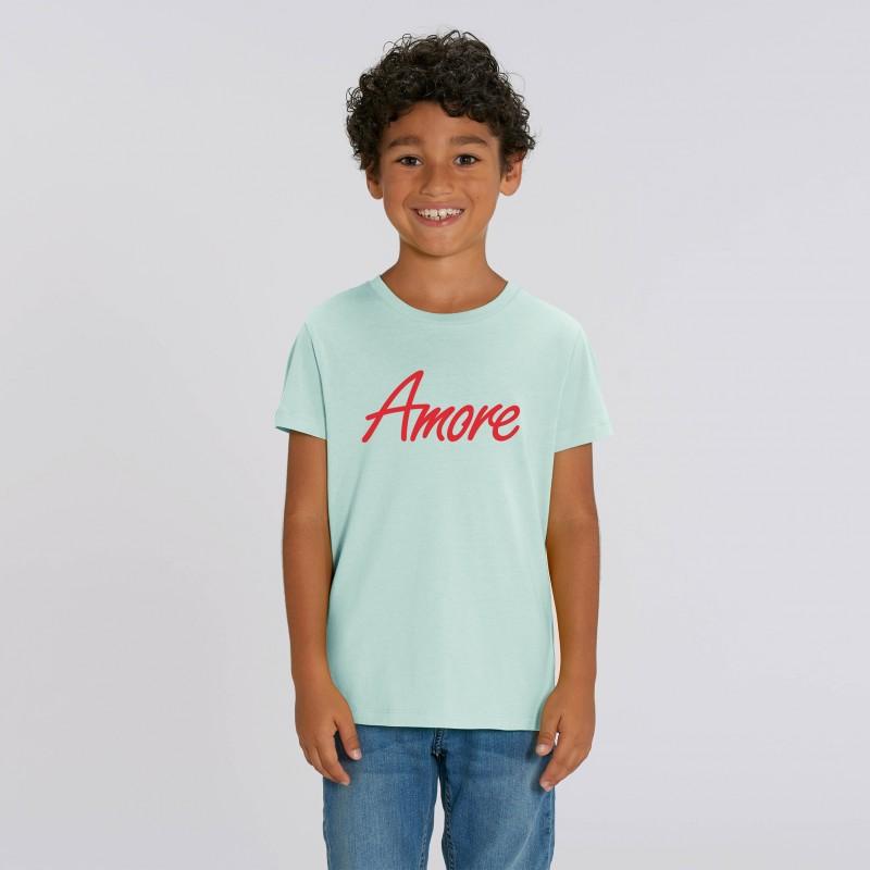 Organic Amore T-Shirt für Kinder, caribbean blue