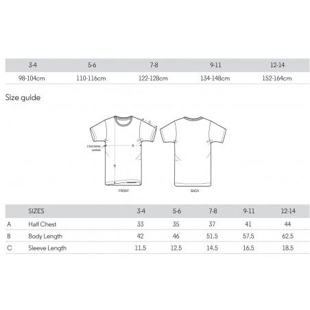 Größentabelle der Stanley/Stella Mini-Creator T-Shirts