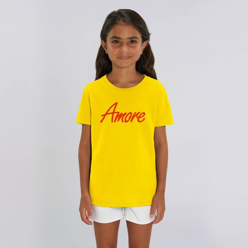 Organic Amore T-Shirt für Kinder, golden yellow