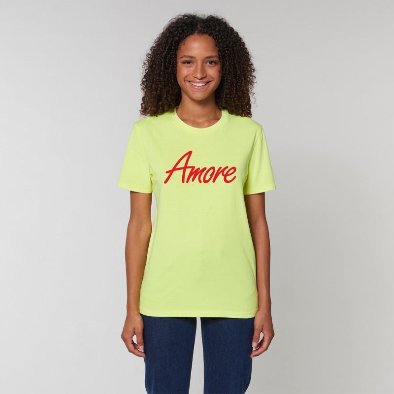 Organic Amore T-Shirt, unisex, neongelb