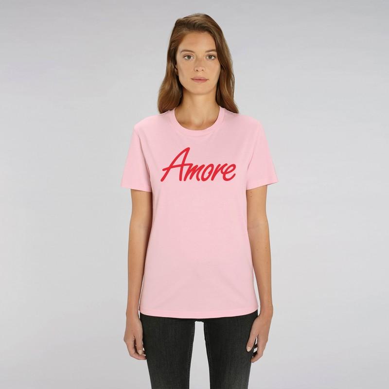 Organic Amore T-Shirt, unisex, cotton pink