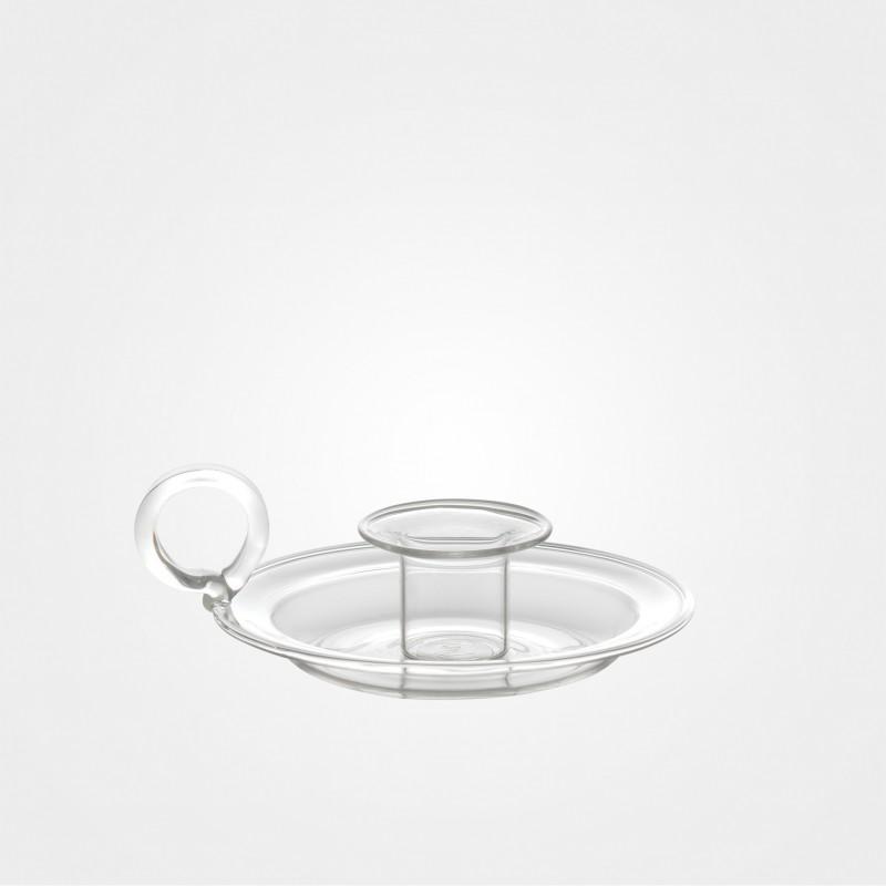 Bitossi Kerzenständer aus Borosilikat, transparent