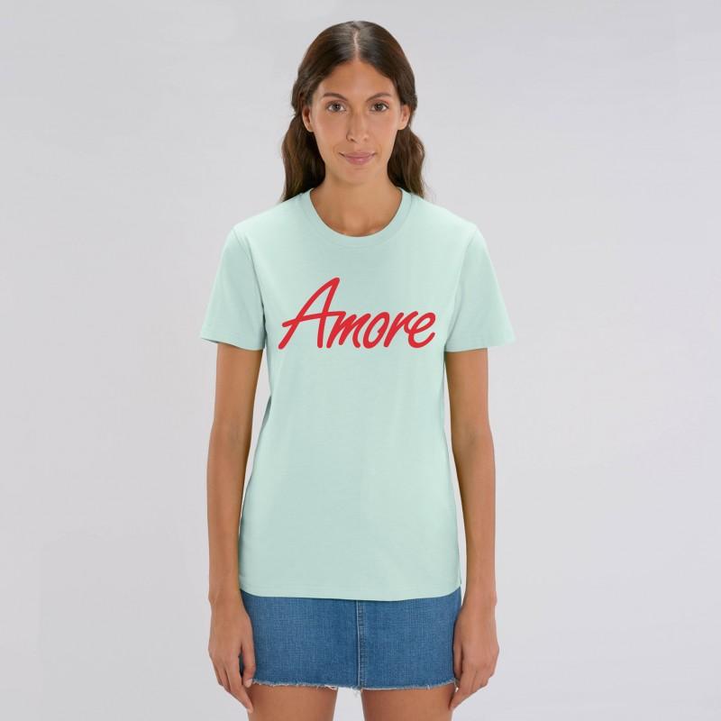 Organic Amore T-Shirt (unisex) caribbean blue