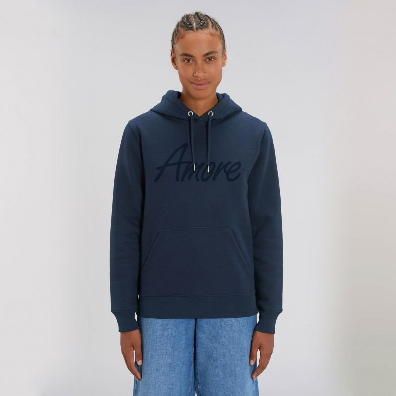 Organic Amore-Hoodie (unisex) french navy, Lack