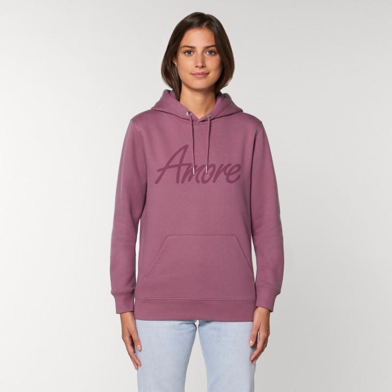 Organic Amore-Hoodie (unisex) mauve, Lack