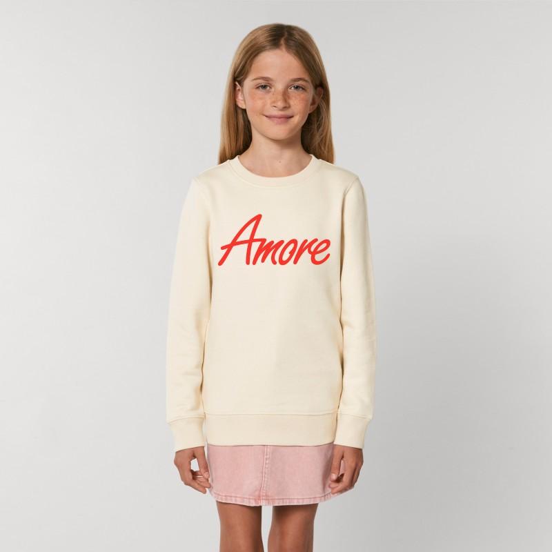 Organic Amore-Sweatshirt für Kinder, natural raw
