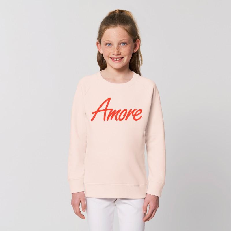 Organic Amore-Sweatshirt für Kinder, candy pink