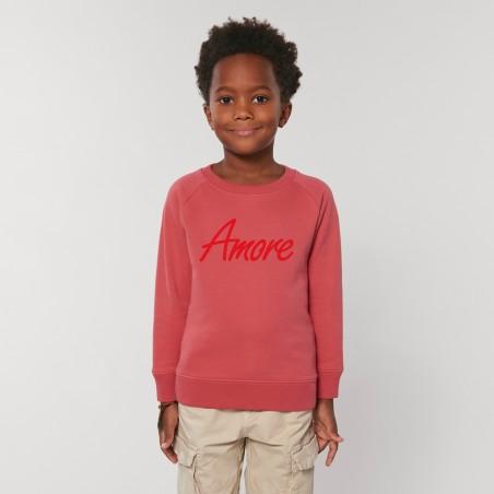 Organic Amore-Sweatshirt für Kinder, carmine red