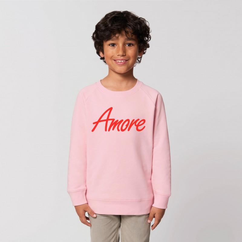Organic Amore-Sweatshirt für Kinder, cotton pink