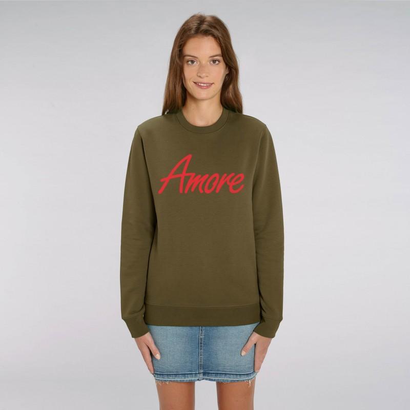 Organic Amore-Sweatshirt (unisex) british khaki