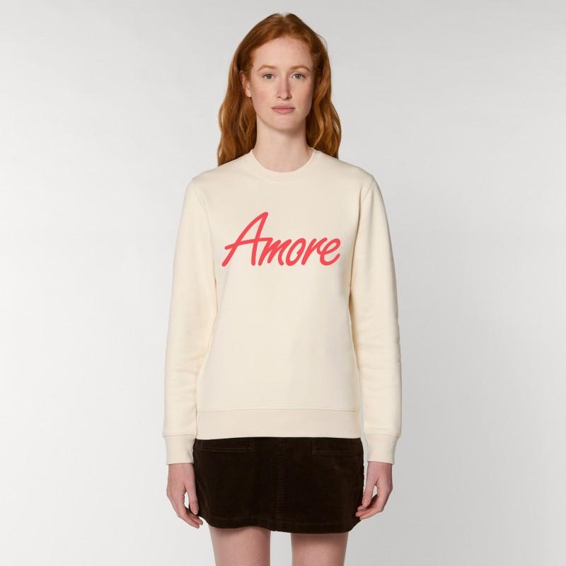 Organic Amore-Sweatshirt (unisex) raw white