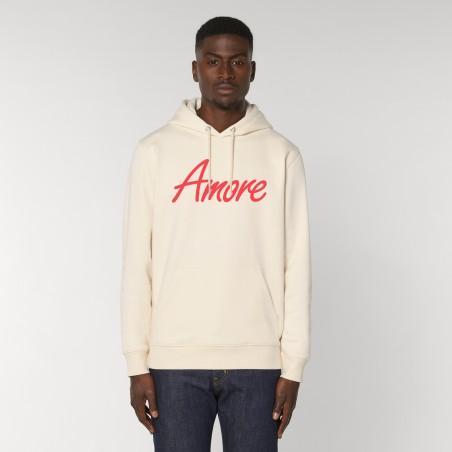 Organic Amore-Hoodie (unisex) raw white