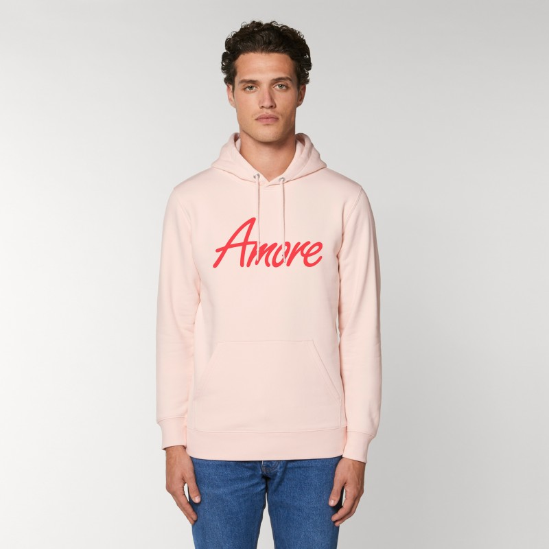 Organic Amore-Hoodie (unisex) candy pink