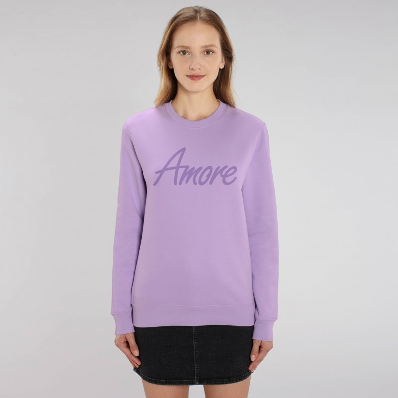 Organic Amore-Sweatshirt (unisex) lavendel, Lack