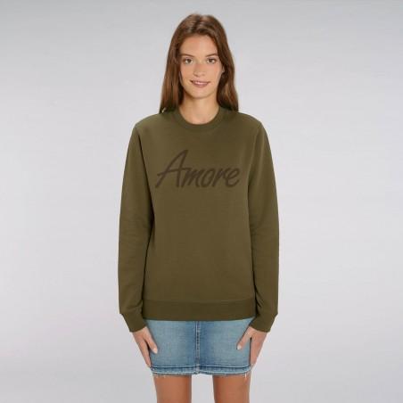Organic Amore-Sweatshirt (unisex) khaki