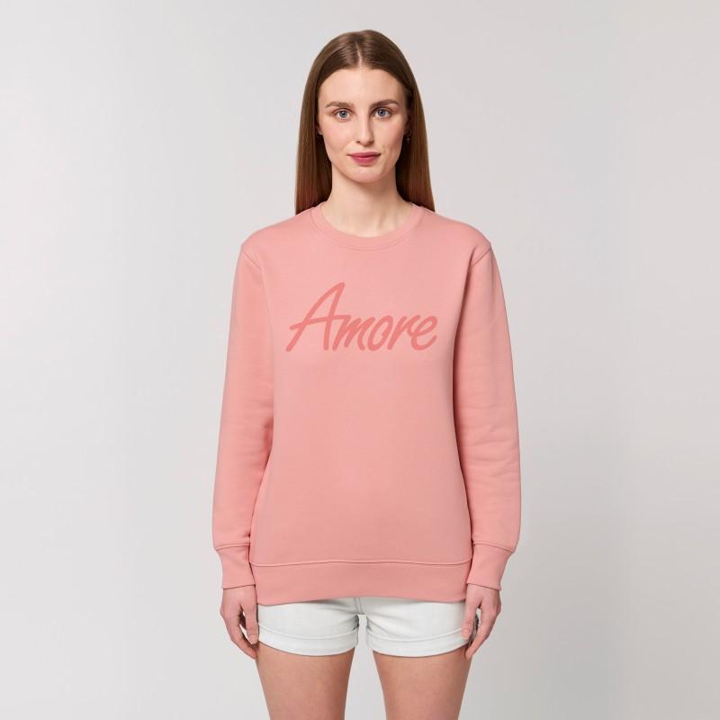 Organic Amore-Sweatshirt (unisex) canyon pink, Lack
