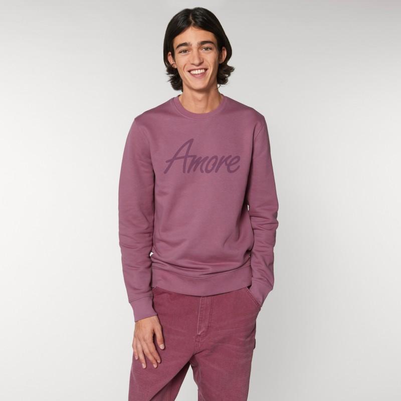 Organic Amore-Sweatshirt (unisex) mauve, Lack