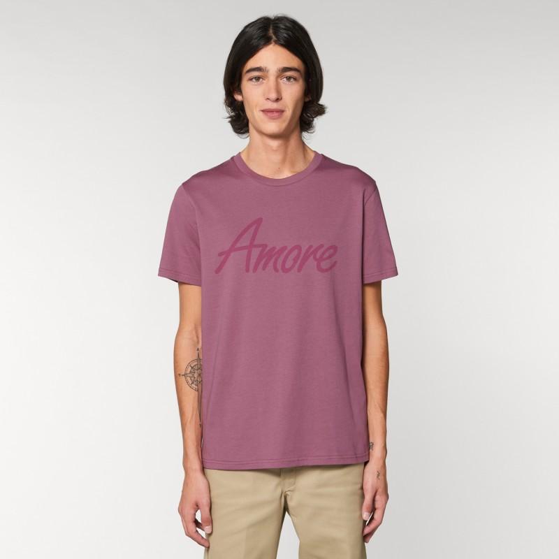 Organic Amore T-Shirt (unisex) mauve, Lack