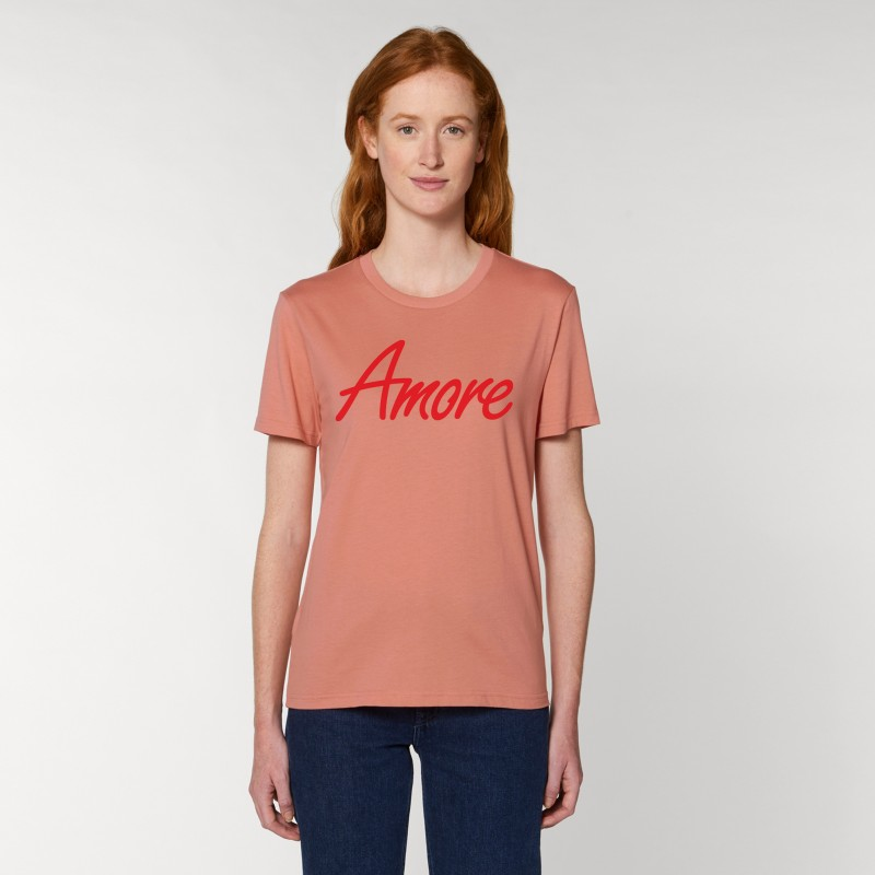 Organic Amore T-Shirt, unisex, rose clay