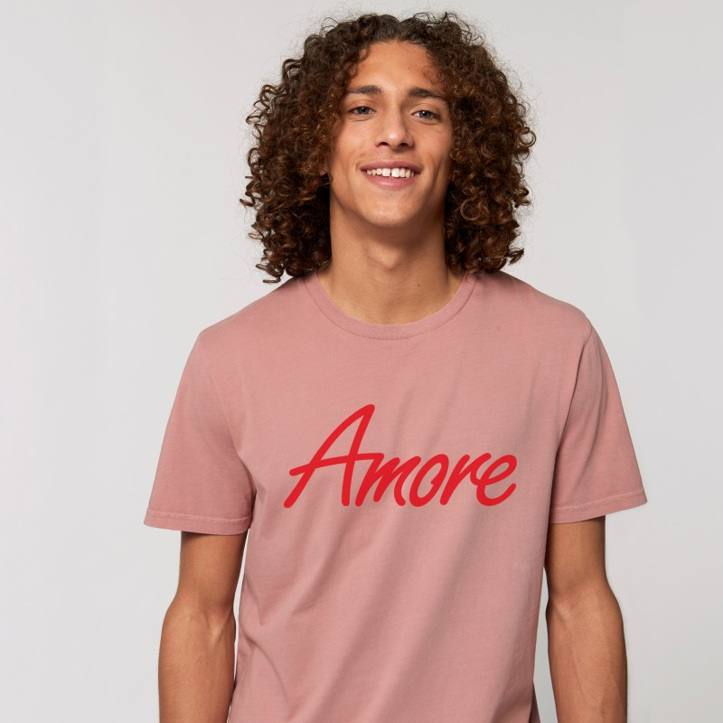 Amore T-Shirt, unisex, canyon pink