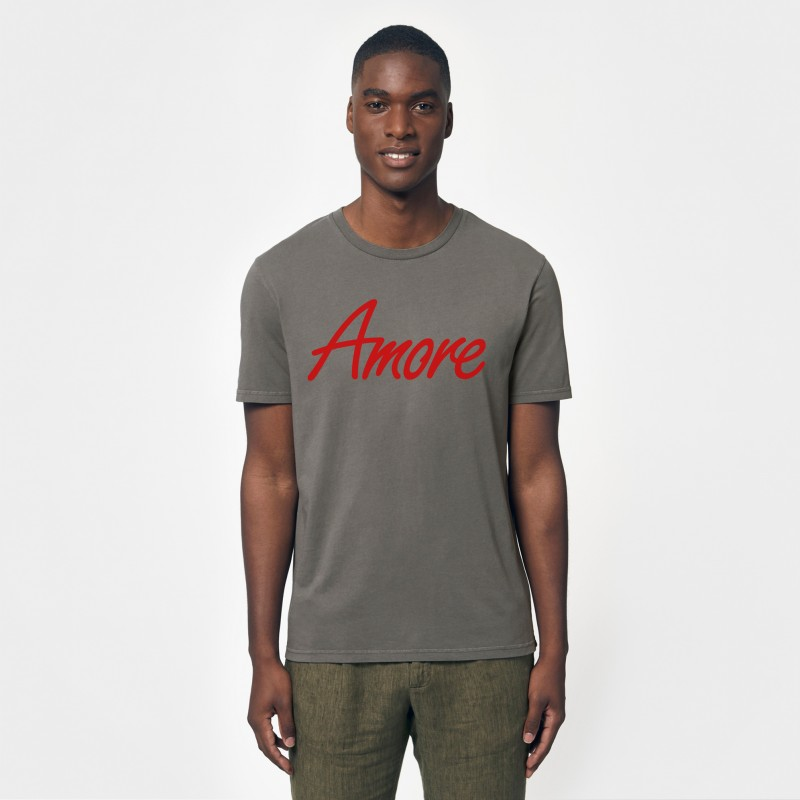 Organic Amore T-Shirt (unisex) dyed anthracite