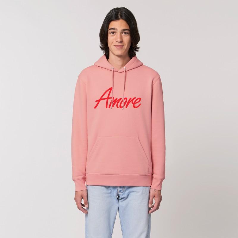 Organic Amore-Hoodie (unisex) canyon pink