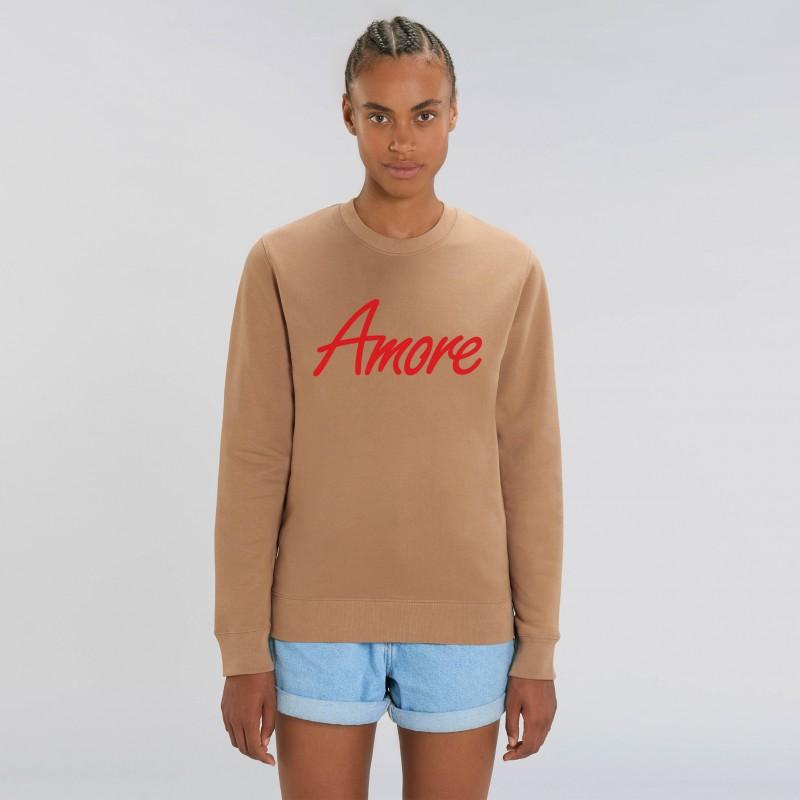 Organic Amore-Sweatshirt (unisex) camel