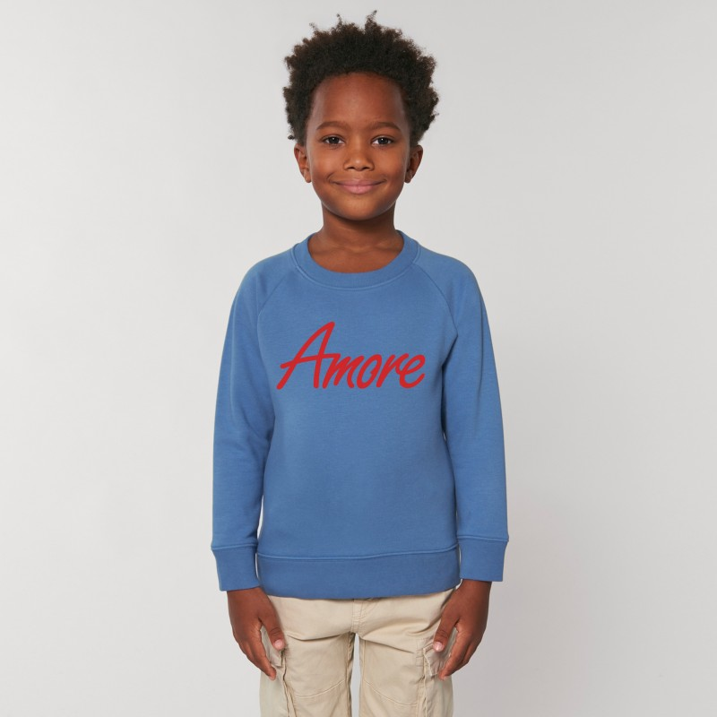 Organic Amore-Sweatshirt für Kinder, bright blue