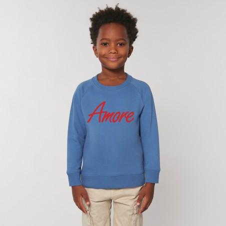 Organic Amore-Sweatshirt für Kinder, bright blue