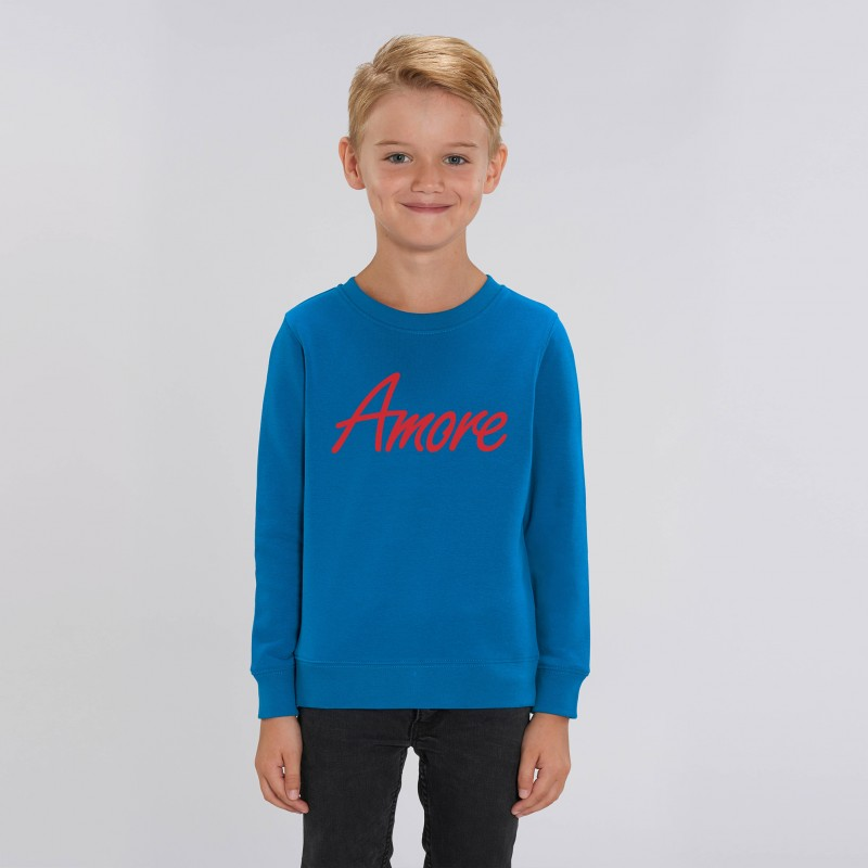 Organic Amore-Sweatshirt für Kinder, royal blue