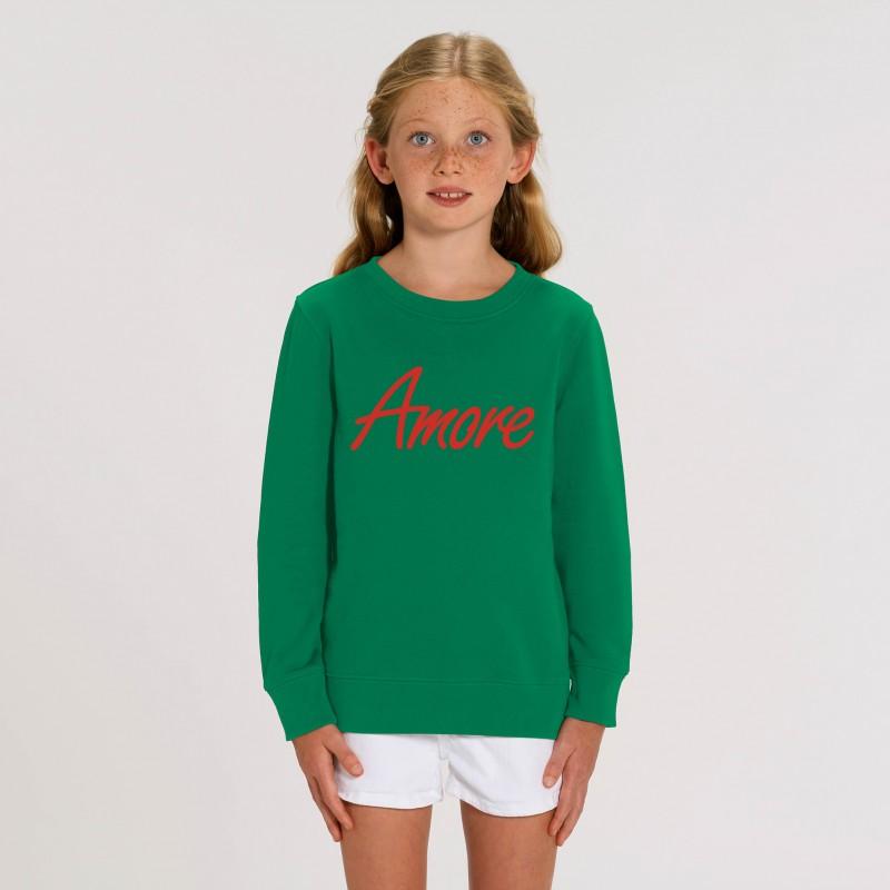 Organic Amore-Sweatshirt für Kinder, varsity green