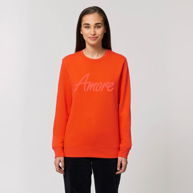 Organic Amore-Sweatshirt (unisex) tangerine