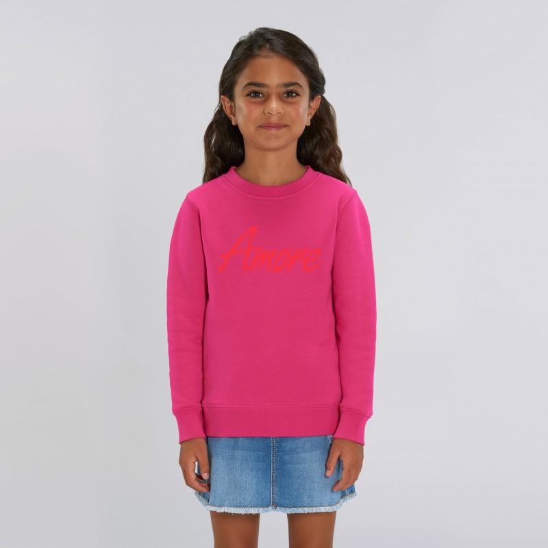 Organic Amore-Sweatshirt für Kinder, raspberry