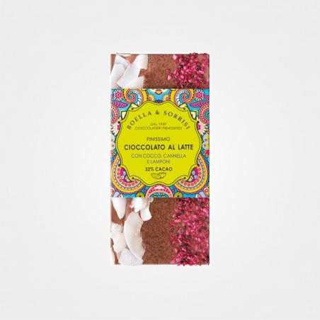 Boella e Sorrisi Vollmilchschokolade mit Kokos, Zimt & Himbeeren