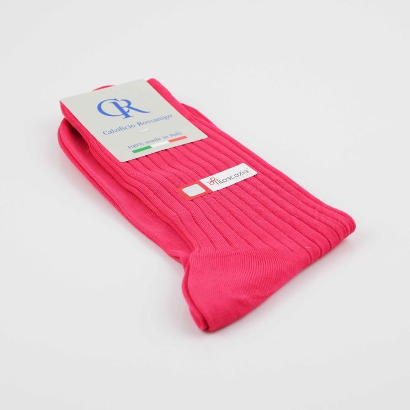 Socken aus Filoscozia Baumwolle, pink