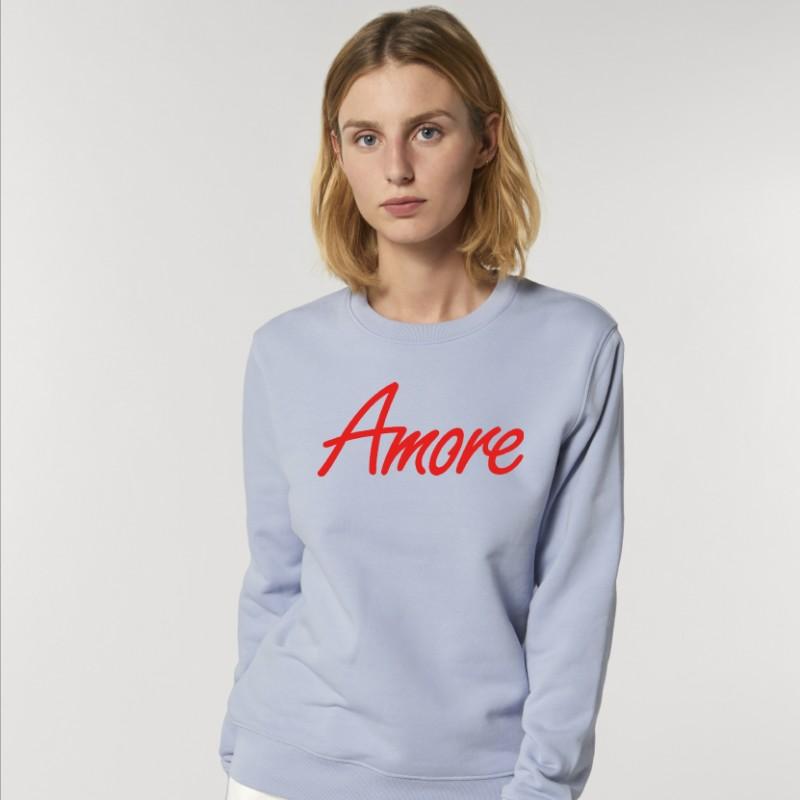 Organic Amore-Sweatshirt (unisex) serene blue, Stanley & Stella